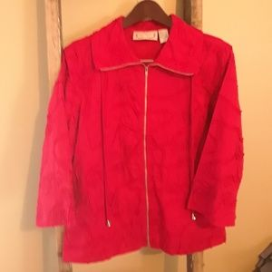 Sonoma- Life Style Cotton Red Jacket, Sz L